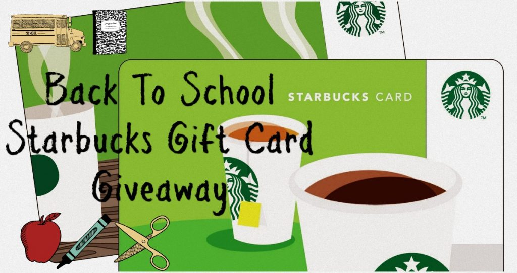 2016 Starbucks gift card giveaway